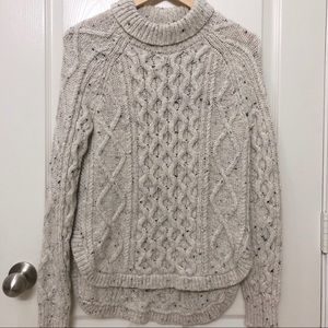 Cream/ Beige Madewell Chunky Knit Sweater